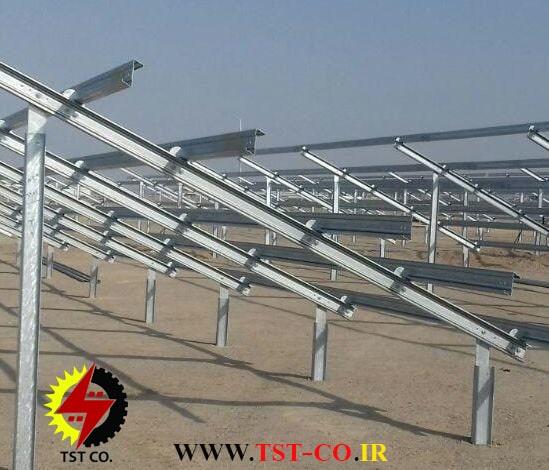 نصب استراکچر پنل خورشیدی