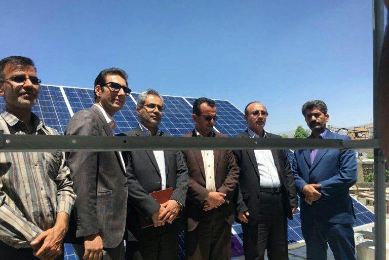 اولین نیروگاه خورشیدی متصل به شبکه در استان قزوین
