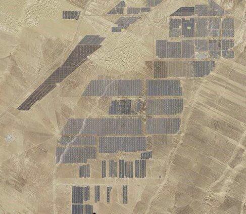 تصویری از بزرگترین مزرعه خورشیدی جهان
